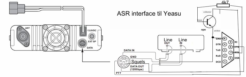 Interface kabel til Yeasu / Kenwood mm.